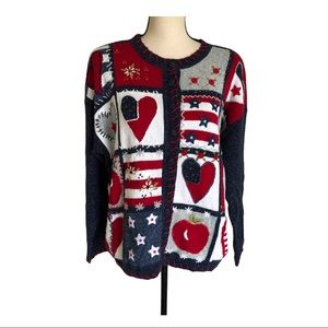Heirloom Collectible Patriotic Heart ugly …